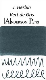 J. Herbin Vert de Gris Ink Sample Color Swab