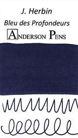 J. Herbin Bleu des Profondeurs Ink Sample Color Swab