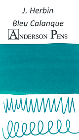 J. Herbin Bleu Calanque Ink Sample Color Swab