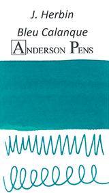 J. Herbin Bleu Calanque Ink Sample Color Swab