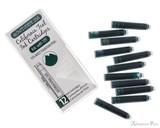 Monteverde California Teal Ink Cartridges (12 Pack) - Box and Cartridges