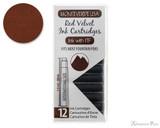 Monteverde Red Velvet Ink Cartridges (12 Pack)