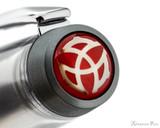 TWSBI 580ALR Fountain Pen - Nickel Gray - Cap Jewel