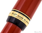 Pilot Custom Urushi Fountain Pen - Vermillion - Cap Band 2