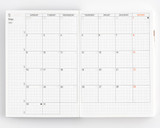 Hobonichi 2022 Techo Planner ONLY - A6 - Monthly
