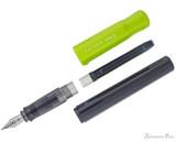 Pilot Kakuno Fountain Pen - Gray with Lime Cap, Medium Nib - Parted Out