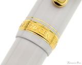 Platinum 3776 Century Fountain Pen - Chenonceau White - Cap Band