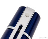 Sheaffer 300 Rollerball - Glossy Blue Lacquer with Chrome Trim - White Dot