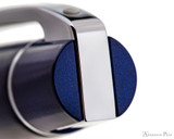 Sheaffer 300 Fountain Pen - Glossy Blue Lacquer with Chrome Trim - Top of Clip0