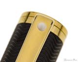 Sheaffer Intensity Fountain Pen - Matte Black with Gold Trim Clip