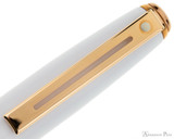 Sheaffer Prelude Ballpoint - White Lacquer with Rose Gold Trim - Clip