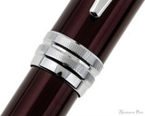 Cross Bailey Rollerball - Red Lacquer with Chrome Trim - Cap Band