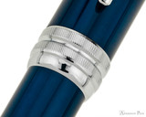 Cross Bailey Ballpoint - Blue Lacquer with Chrome Trim - Cap Band