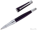 Cross Beverly Rollerball - Deep Purple Lacquer with Chrome Trim - Open
