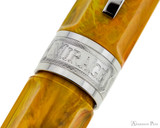 Visconti Mirage Fountain Pen - Amber - Cap Band 2