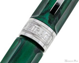 Visconti Mirage Fountain Pen - Emerald - Cap Band