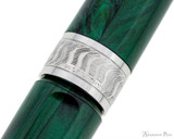 Visconti Mirage Fountain Pen - Emerald - Cap Band 2
