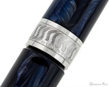 Visconti Mirage Fountain Pen - Night Blue - Cap Band 2