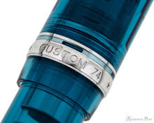 Pilot Custom 74 Fountain Pen - Teal - Cap Band 2