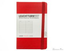 Leuchtturm1917 Notebook - A7, Lined - Red