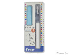 Pilot Kakuno Fountain Pen - White with Turquoise Cap, Fine Nib - Box