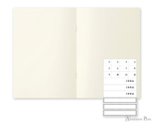 MD Notebook Light A5 Blank 3 Pack English Caption - Open