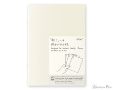 MD Notebook Light A5 Blank 3 Pack English Caption
