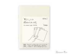 MD Notebook Light A6 Blank 3 Pack Japanese Caption