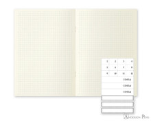 MD Notebook Light A6 Grid 3 Pack Japanese Caption - Open
