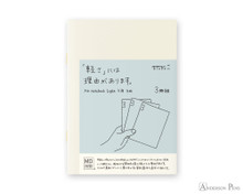 MD Notebook Light A6 Grid 3 Pack Japanese Caption