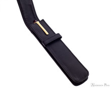 Girologio 1 Pen Case - Black Leather - Open with Pen