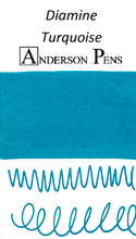 Diamine Turquoise Ink Color Swab