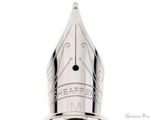 Sheaffer 100 Fountain Pen - Black Barrel with Brushed Chrome Cap