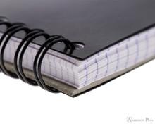 Rhodia No. 16 Wirebound Notebook - A5, Graph - Black binding detail