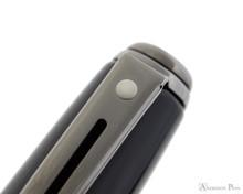 Sheaffer Prelude Fountain Pen - Gloss Black Lacquer with Gunmetal Trim - White Dot