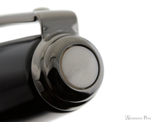 Sheaffer Prelude Fountain Pen - Gloss Black Lacquer with Gunmetal Trim - Cap Jewel