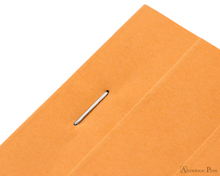 Rhodia No. 16 Staplebound Notepad - A5, Lined - Orange staple detail