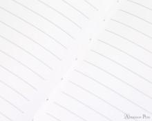 APICA CD15 Notebook - B5, Lined - Light Blue open closeup