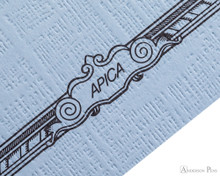 APICA CD15 Notebook - B5, Lined - Light Blue scroll
