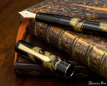 Namiki Chinkin Fountain Pen - Pine Tree - Open on Paperblanks