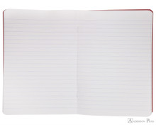 Clairefontaine Basic Staplebound Duo - 5.75 x 8.25, Lined Paper - Red and Green Open