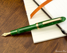 Platinum 3776 Celluloid Fountain Pen - Jade - Posted on Notebook