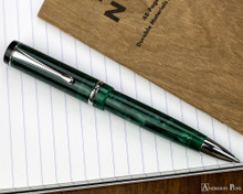 Conklin Duragraph Ballpoint - Forest Green - Open on Field Notes