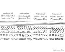 Anderson Pens #6 Steel Nib - Two-Tone, 1.5mm Stub