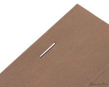 Rhodia No. 16 Premium Notepad - A5, Lined - Taupe, Lined staple detail