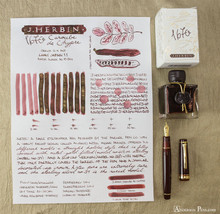 J. Herbin 1670 Anniversary Caroube de Chypre Ink Sample ThINK Thursday image