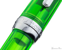 Sailor Professional Gear Slim Fountain Pen - Transparent Green with Rhodium Trim - Cap Band