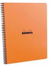 Rhodia Wirebound Notebook - A4, Lined Paper with Margin - Orange
