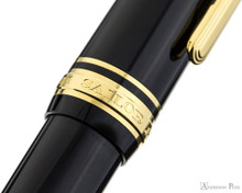 Sailor Pro Gear Slim Fountain Pen - Black with Gold Trim - Cap Band