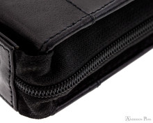 Girologio 24 Pen Case - Black Leather - Zipper